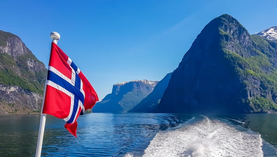 Norway Cruise Ship Flag Fjords