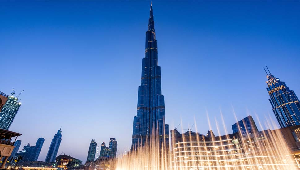 Burj Khalifa and Mall Fountains